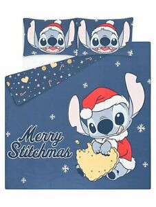 Disney Stitch Merry Stitchmas Christmas Single or Double or King Duvet Cover Set