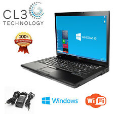 Dell Latitude Laptop WiFi DVD/CDRW 120GB Windows 10 Pro NEW BATTERY + 4GB