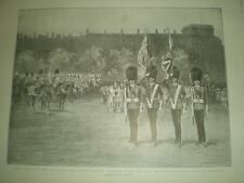 King Edward VII and 3rd battalion Scots Guards new colours 1901 print ref AQ