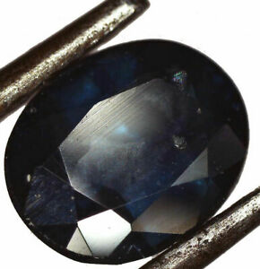 UNTREATED Blue natural Sapphire  5.6 mm x 4.5 mm