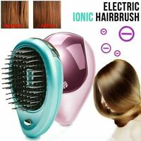 Electric Ionic Hairbrush Vibration Shampoo Scalp Hair Comb Massager Brush O4D1