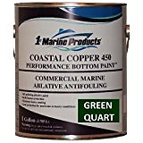 Coastal Copper 450 Multi-Season Ablative Antifouling Bottom Paint Green Quart