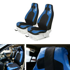 Polyester PU Leather Pair High-Back Bucket Seat Covers For Interior Accessories