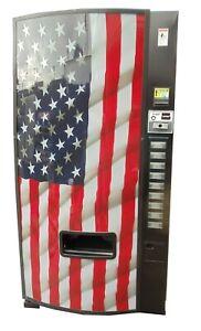 Dixie Narco 501E  Soda Vending Machine Cans & Bottles USA FLAG MDB FREE SHIPPING