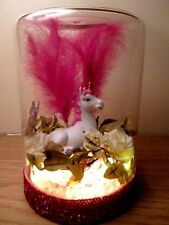 TABLE LAMP PINK UNICORN LIGHT LED GIRLS KIDS BEDROOM BEDSIDE ROOM XMAS GIFT