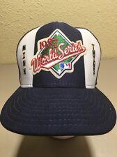 NWT 1987 World Series Minnesota Twins Vintage Hat Meshback Snapback Adjustable
