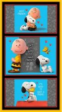 Peanuts Panels Charlie Brown And Snoopy For Quilt Home Decor & Other Crafts