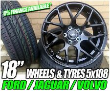 """4 x 18"""" NEW ALLOY WHEELS + TYRES FORD RS STYLE FOCUS C-MAX MONDEO VOLVO JAGUAR"""