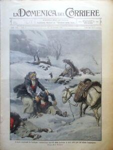La Domenica del Corriere 25 Gennaio 1914 Nevicata Alluvione Scicli Gray Agolini