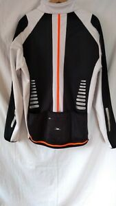 Mens Cycling Jacket X Large. Black/ White