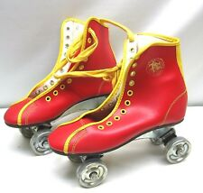 Official Roller Derby Outdoor Steel Wheel Skates Child's Size 3 Red & Yellow