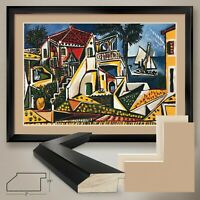 """44W""""x32H"""": PAYSAGE MEDITERRANEEN by PABLO PICASSO - DOUBLE MATTE, GLASS & FRAME"""