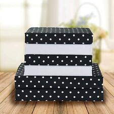 Elegant Comfort Luxury Soft Bed Sheets Polkadot Pattern 1500 Thread Count Percal