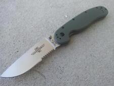 Ontario OKC RAT 1 OD Green Satin 1/2 Serrated Folding Pocket Knife AUS-8 8849OD