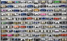 Fashion 100pcs mix STAINLESS STEEL RINGS WHOLESALE BULK LOT MEN'S rings