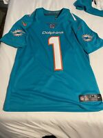 100% Authentic Tua Tagovailoa Nike On Field Stitched Dolphins Jersey Size Medium