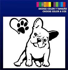 Bulldog Frances - Sticker Vinilo - Escoge color y tamaño- Pegatina -Nuevo Diseño