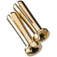 Duratrax Gold Plated Bullet Connector Male 4mm (2) - DTXC2306