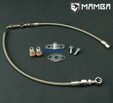 MAMBA AVCS Turbo Oil Feed Line 02~06 WRX / 04~14 STI w/ T3 T04B T04E For Subaru