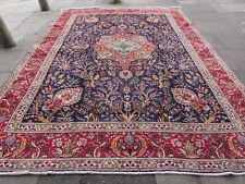 Old Hand Made Traditional Persian Rugs Oriental Wool Blue Large Carpet 398x295cm