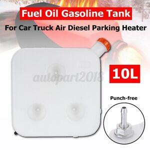 HCalory 10L Plastic Fuel Oil Gasoline Tank Kit For Car Air Diesel Parking Heater
