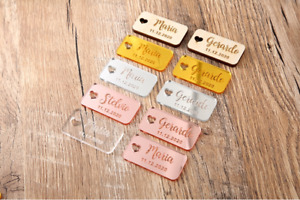 Custom Personalized Wedding Name place tags cards Table decoration Signs crafts