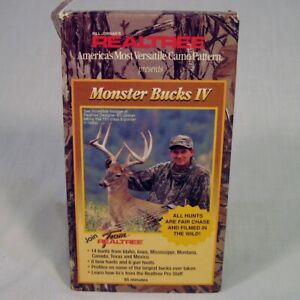 Vtg Monster Bucks IV VHS Tape Deer Hunting Bill Jordans Realtree
