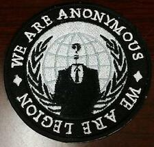 We are Legion Anon embroidered cloth patch 4chan Anonymous 4Chan legion