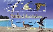 Maldivas 2010 estampillada sin montar o nunca montada Aves de Maldivas zarapito trinador zancos 6 V m/s zancudas sellos
