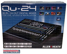 Allen & Heath QU-24C 30-In/24-Out Digital Mixer New Chrome Edition QU-24