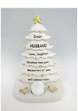 Special Husband Christmas Tree Memorial Graveside Ornament With Flickering Light