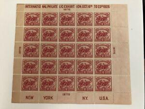 US Scott #630 Battle of White Plains Sheet of 25-MNH-No Flaws