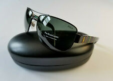 POLO RALPH LAUREN PH 3087 9265/71 BLACK/DARK BROWN STRIPE COLOR TEMPLES SUNGLASS