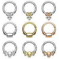Septum Piercing Ring Biegsam Seamless Beads Nasenring Tragus Helix Ohr Stecker