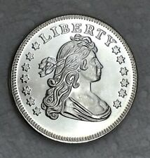 Draped Bust D&T Death & Taxes .999 Fine Silver Art Round One Ounce Dave & Tom