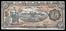 Veracruz, Gobierno Prov. de Mexico 20 Pesos O/P YUCATAN M3976h, VF.