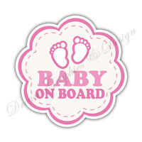 Baby on Board Child Full Color Adhesive Vinyl Sticker Window Car Bumper #065