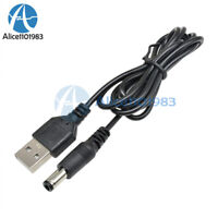 2PCS USB 2.0 to DC 5.5mm X2.1mm 80cm  USB to power Cord Cable MCU Power supply