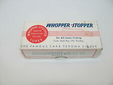 WHOPPER STOPPER VINTAGE 2 PIECE LURE BOX WITH PAPERWORK