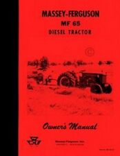 Massey Ferguson MF 65 Diesel Tractor Operators Manual