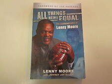 Lenny Moore SIGNED All Things Being Equal 2006 NFL HOF Baltimore Colts