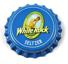 White Rock Seltzer Soda Bier Kronkorken USA Bottle Cap Plastikdichtung