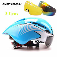 New Cycling Helmet MTB Bike Bicycle Triathlon Sport Helmet Goggles Visor 57-61cm
