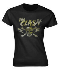 The Clash 'Grunge Skull' Womens Fitted T-Shirt - NEW & OFFICIAL!