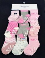 Baby, Toddler Girl ABS Cotton Blend Anti Non Slip Socks 3 Pairs Size 6-12 months
