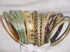 BUNCH Of RARE Bangle Sari SKIRT Salwar Kameez SUIT Outfit BALLROOM DANCE JEWELRY