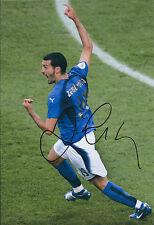 Gianluca ZAMBROTTA Signed 12x8 Photo AFTAL COA Autograph ITALY World Cup RARE