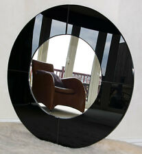 BRAND NEW Frameless Modern Large Round Mirror in Gloss Black