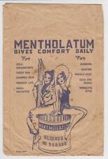 """ANTIQUE ORIGINAL 5"""" X 7"""" MENTHOLATUM PAPER POUCH OR ENVELOPE ADVERTISEMENT"""