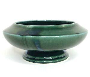 Vtg Hull USA Pottery F478 Forest Green Glazed Bowl Planter Flower Pot Jardinière